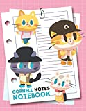 Cornell Notes Notebook: Cornell Note Taking System Method, A Method to Take a Great Notes, Cornell Notepad A4 120 Pages Cute Cat Pink for School, Students, Meetings